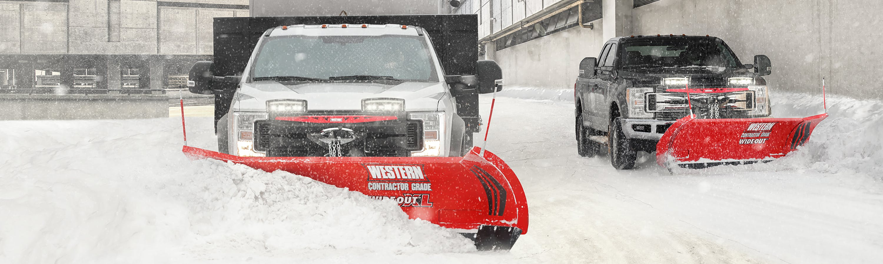 Western Products is a leading manufacturer of snow and ice control equipment in the commercial market.  With over 65 years of manufacturing experience, Western Products has built a reputation for producing high-quality products, including a full line of CONTRACTOR GRADE<sup>®</sup> snow plows for commercial snow plowing, as well as personal use and light municipal snow removal operations. WESTERN® also offers hopper and tailgate-mounted sand and salt spreaders, along with a wide selection of performance-enhancing accessories to help you get more jobs, done faster.
