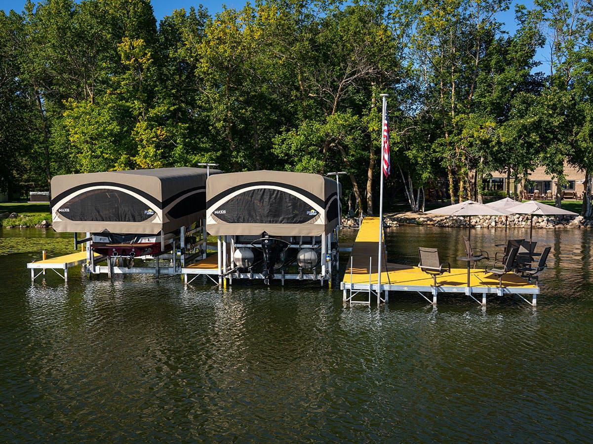 Floe Boat Lift Khaki Canopies