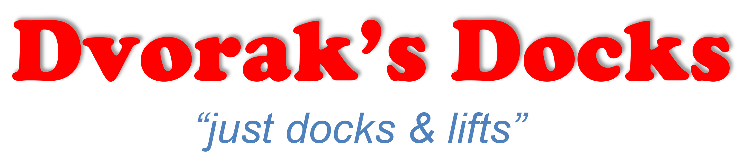 Company logo for 'Dvorak's Docks - Elcho'.