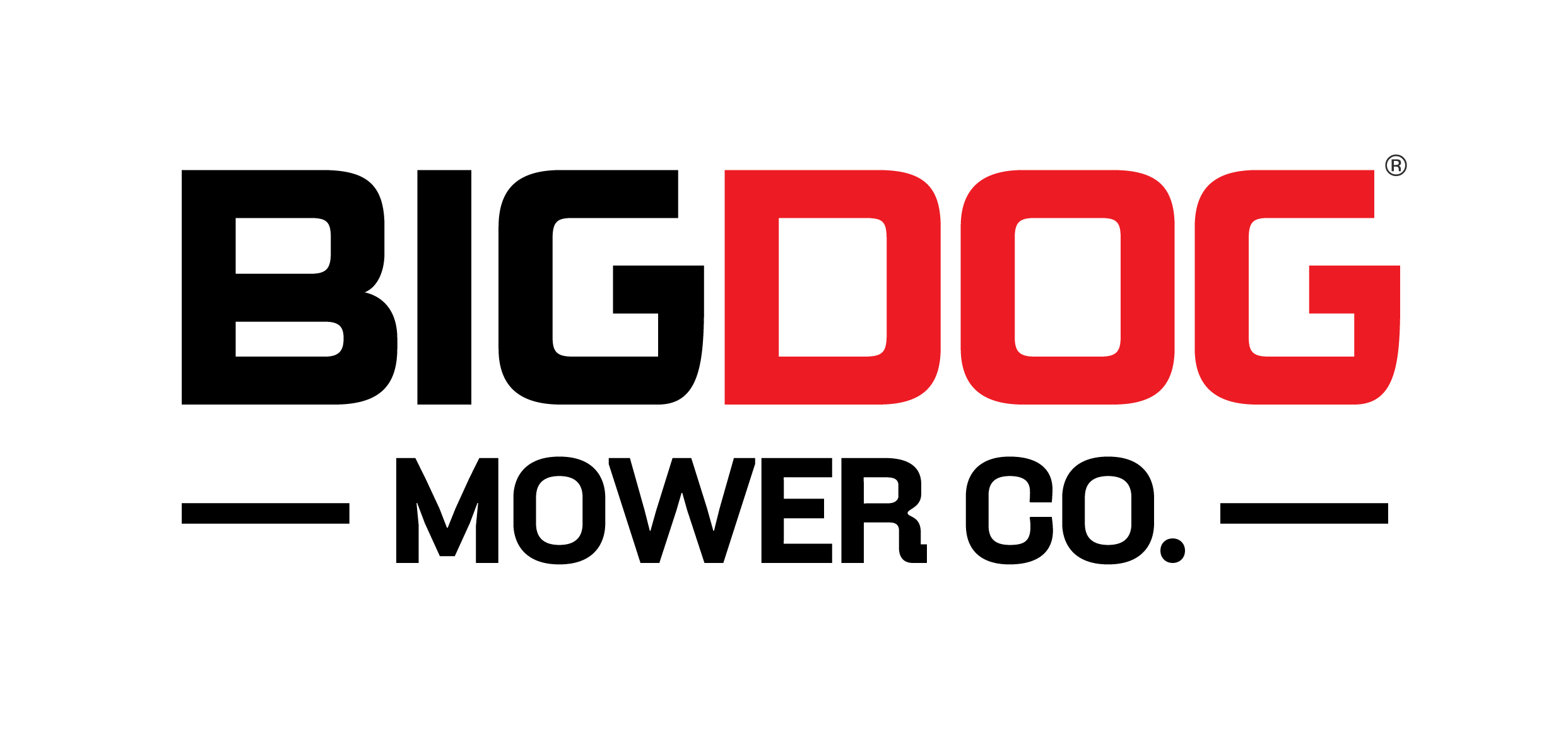 Company logo for 'BigDog Mower Co.'.