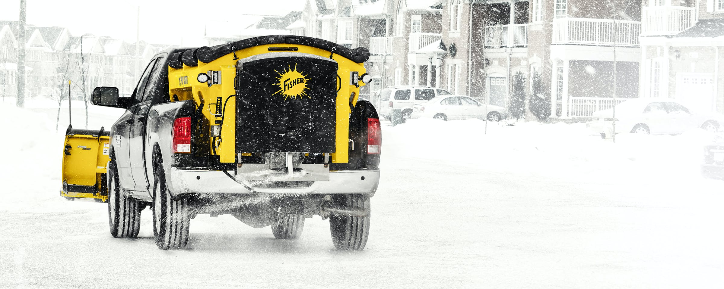Ice control demands different equipment and FISHER has all the equipment you need to take on Mother Nature. FISHER offers large stainless steel and poly hopper spreaders, tailgate spreaders, and spreaders designed specifically for UTVs.