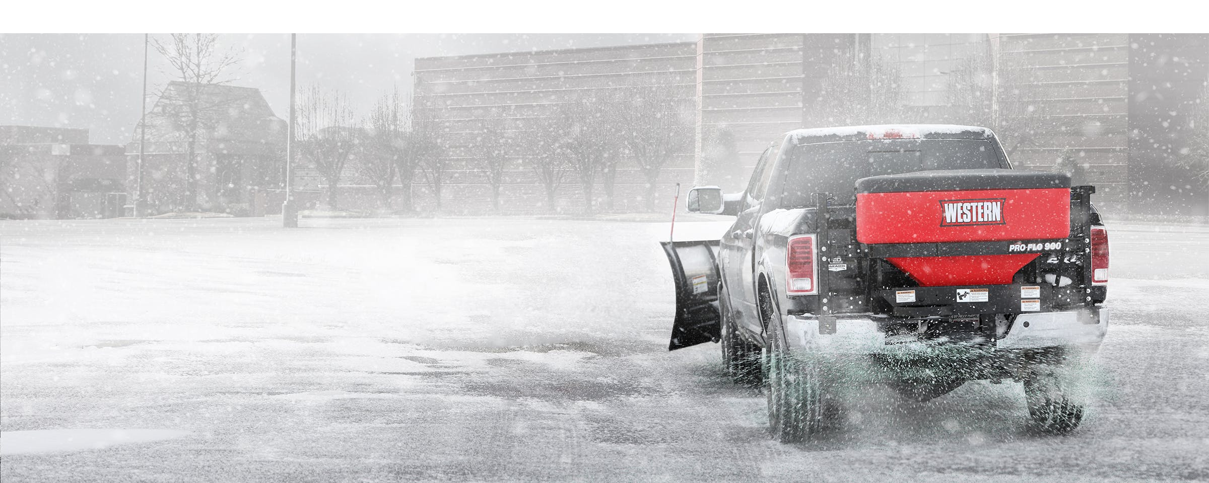 Put the next storm in your control and increase your profitability by adding WESTERN ice control equipment to your winter services fleet. WESTERN offers a full line of spreaders to choose from including full size poly and stainless steel hopper spreaders, tailgate spreaders, and spreaders designed specifically for UTVs.