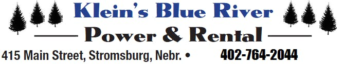 Klein's Blue River Contact Info including address and phone number. Give us a call and let us get you into your next machine. 402-764-2044