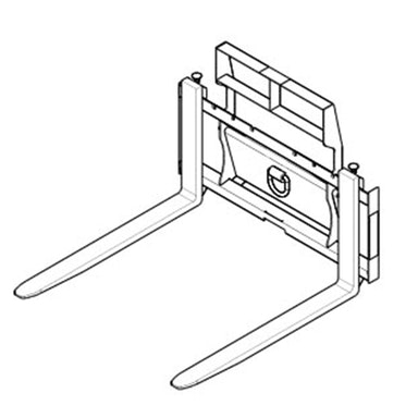 Pallet Forks: Rail Style – Class II – 42 in Tine Length