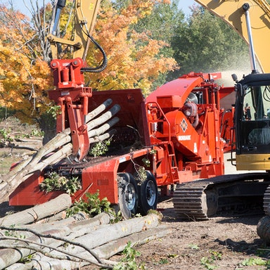 30/36 Whole Tree Drum Chipper