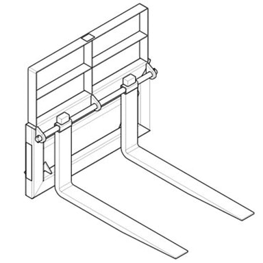 Pallet Forks and Frame – Pin Style – 42 in Tine Length