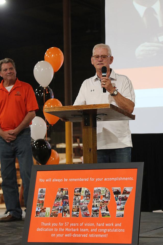 Larry Burkholder Speaks at His Retirement Celebration