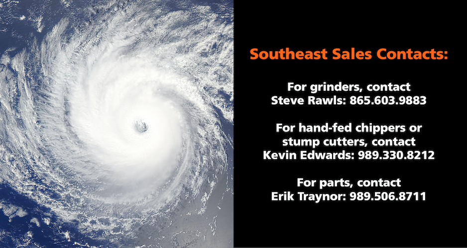 Hurricane Cleanup Southeast Sales Contacts